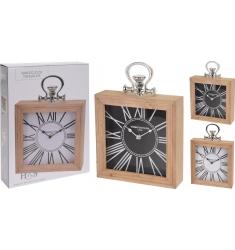 Reloj madera 24*24 cm.
