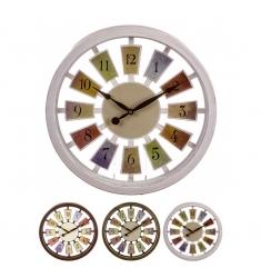 Reloj redondo pared 35cm.