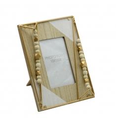Portafoto madera oro 10x15