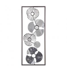 Cuadro metal flor  25x61  multicolor