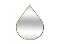 Espejo de metal en forma de gota 28xh 39cm