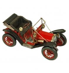 Maqueta coche antigüo rojo