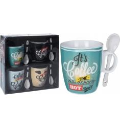 Set 4 tazas mug 200cc. COFFEE