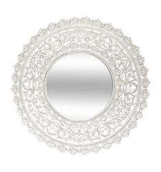 Espejo calado blanco 90cm.