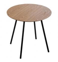 Mesa centro madera-metal  marrón D48xH57cm.