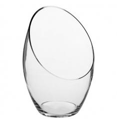 Florero en cristal 33x22 cm diametro