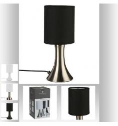 Lampara TACTIL en metal negra y blanco 28cm
