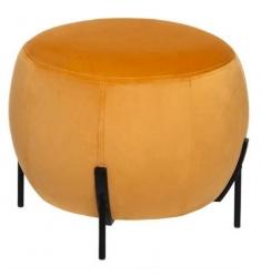 Puff en terciopelo naranja 44x35