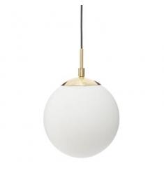 Lampara techo en cristal blanco 90x20cm diametro