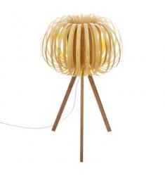 Lampara sobremesa efecto madera 55x33cm diametro