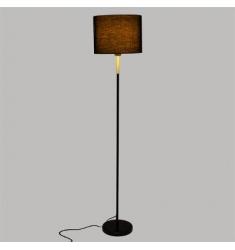Lampara pie metal negro-oro 150x32cm diametro
