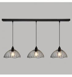 Lampara techo 3 luces barra 100cm- 24cm diametro