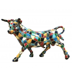 Figura toro mosaico 23cm