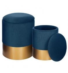 Set 2 pufs 36x44-32x38 azul
