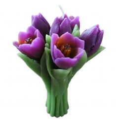 Vela de Cera 6 Tulipanes