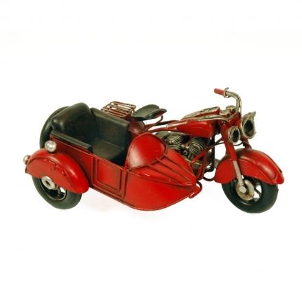 Moto Antigua con Sidecar