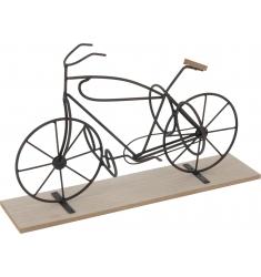 Bicicleta de forja 48x20x29cm. botellero