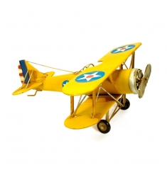 Avioneta metal amarilla