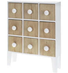 Armario 9 cajones madera blanco 48x10x38